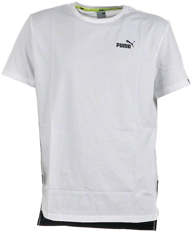 Puma t-shirt s/s, hvid allover, Sports