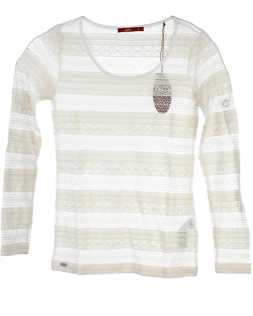 Image of EDC By Esprit blonde t-shirt, hvid