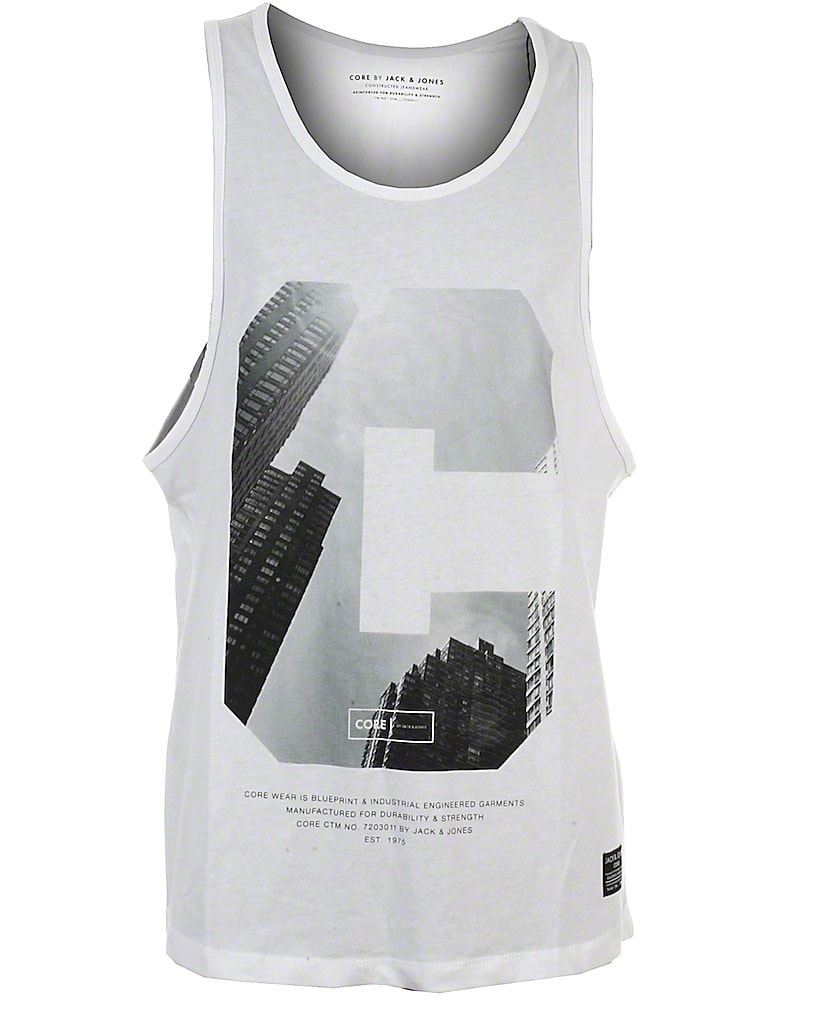 Image of Jack & Jones Core tank top, hvid, Alley