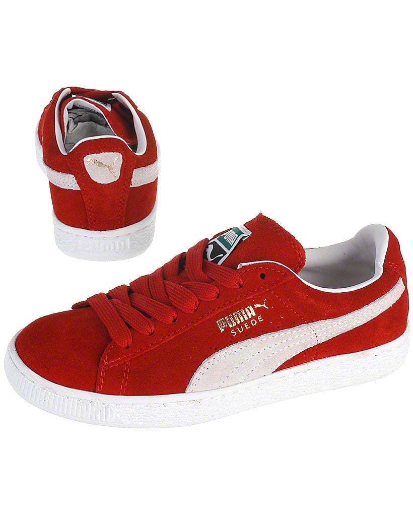 Puma sneakers, rød, Suede classic+