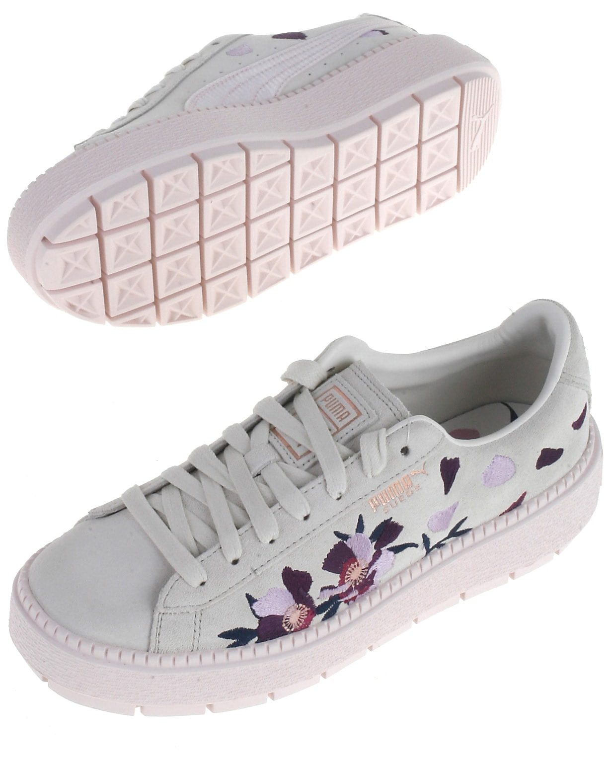 Puma sneakers, rosa, Suede Platform Trace Flowery