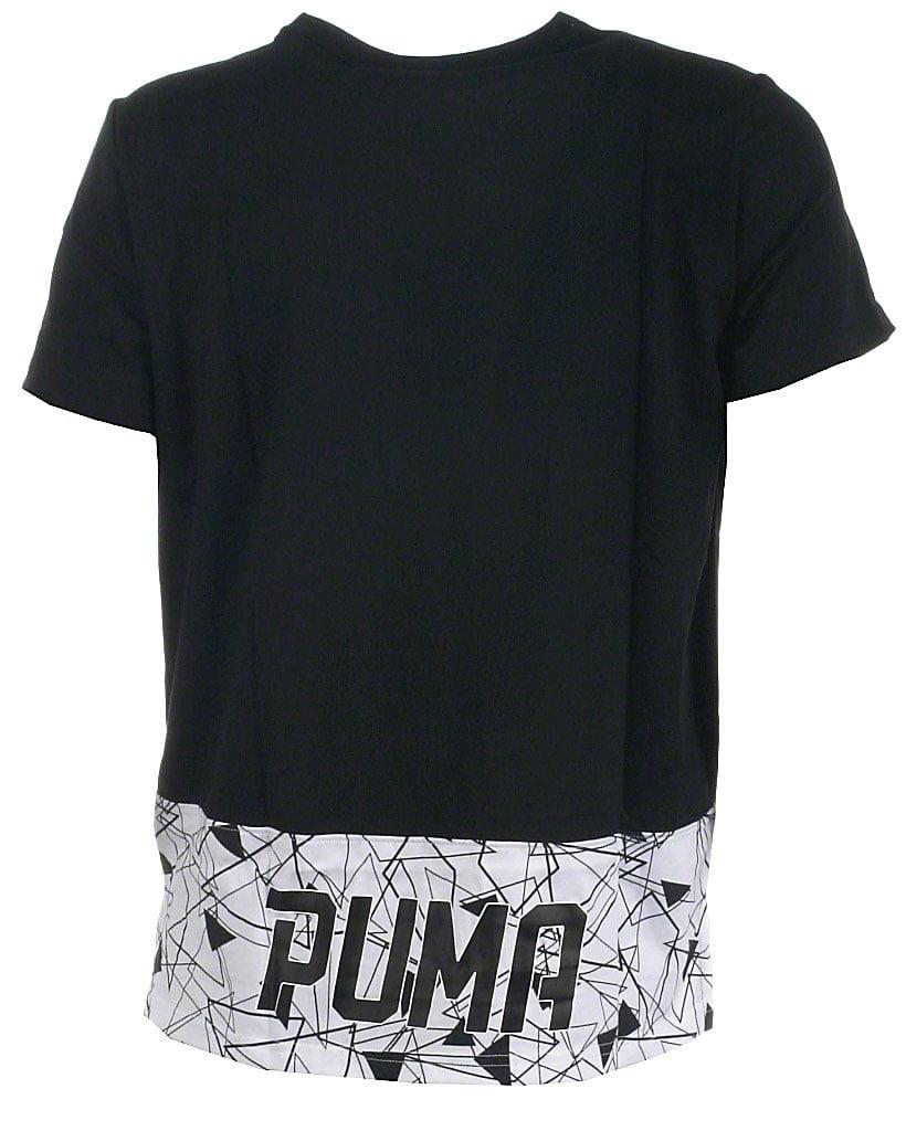 Puma t-shirt s/s, sort allover, Sports