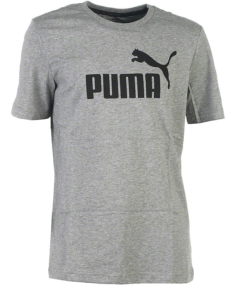 Puma t-shirt s/s, grå, Ess No. 1, sort logo