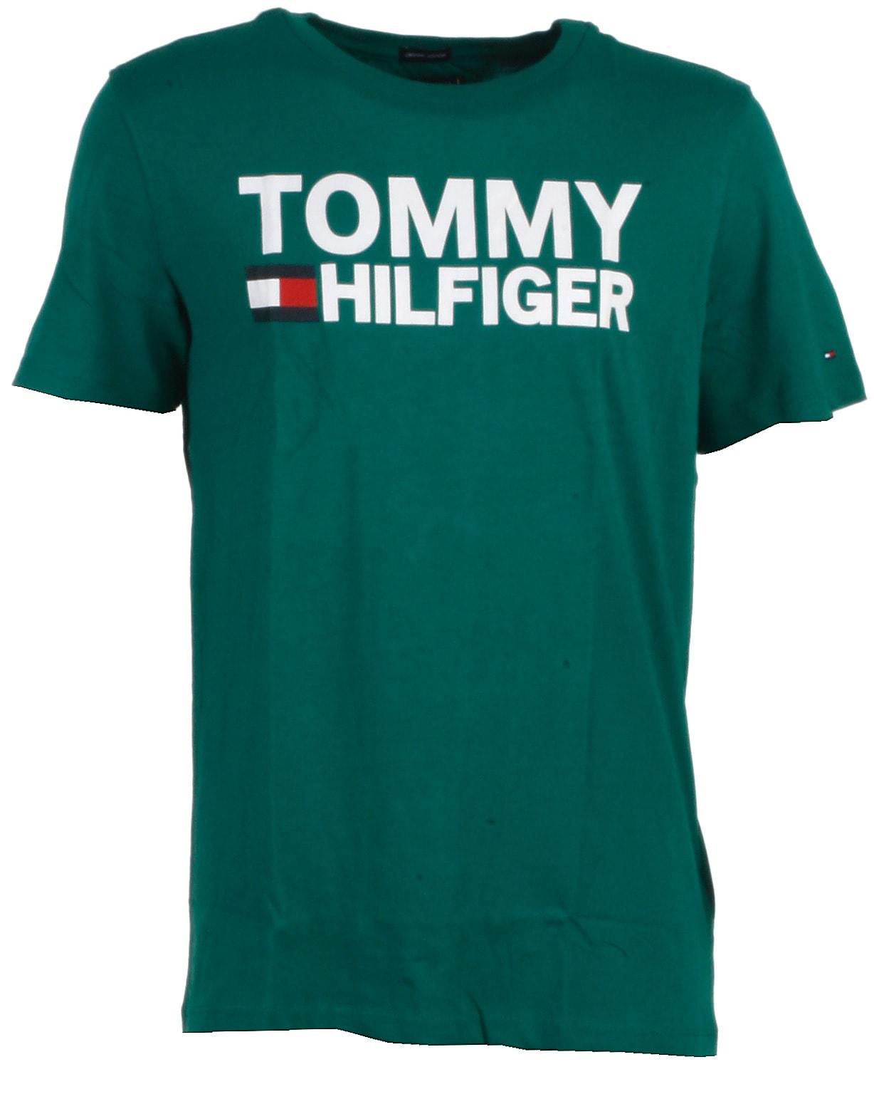 Tommy Hilfiger t-shirt s/s, grøn, Essential