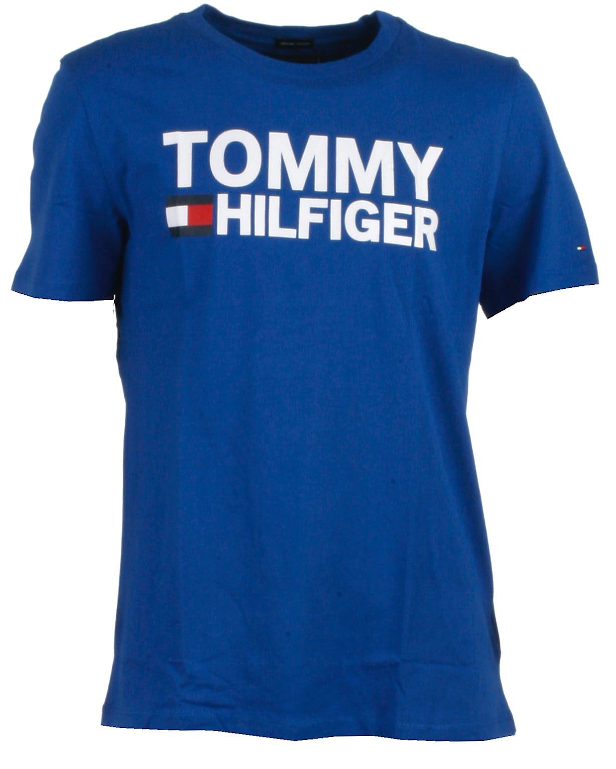 Tommy Hilfiger t-shirt s/s, blå, Essential