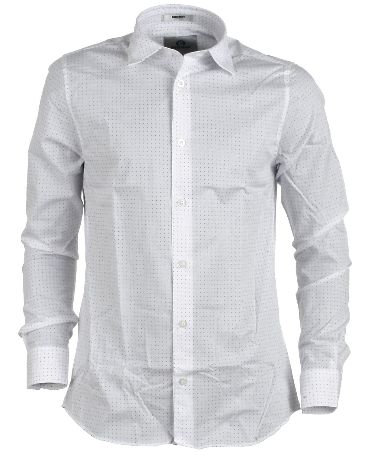 9671f4e1b7a Cost:bart skjorte, hvid/prik, Kordell - Shop online mode her!