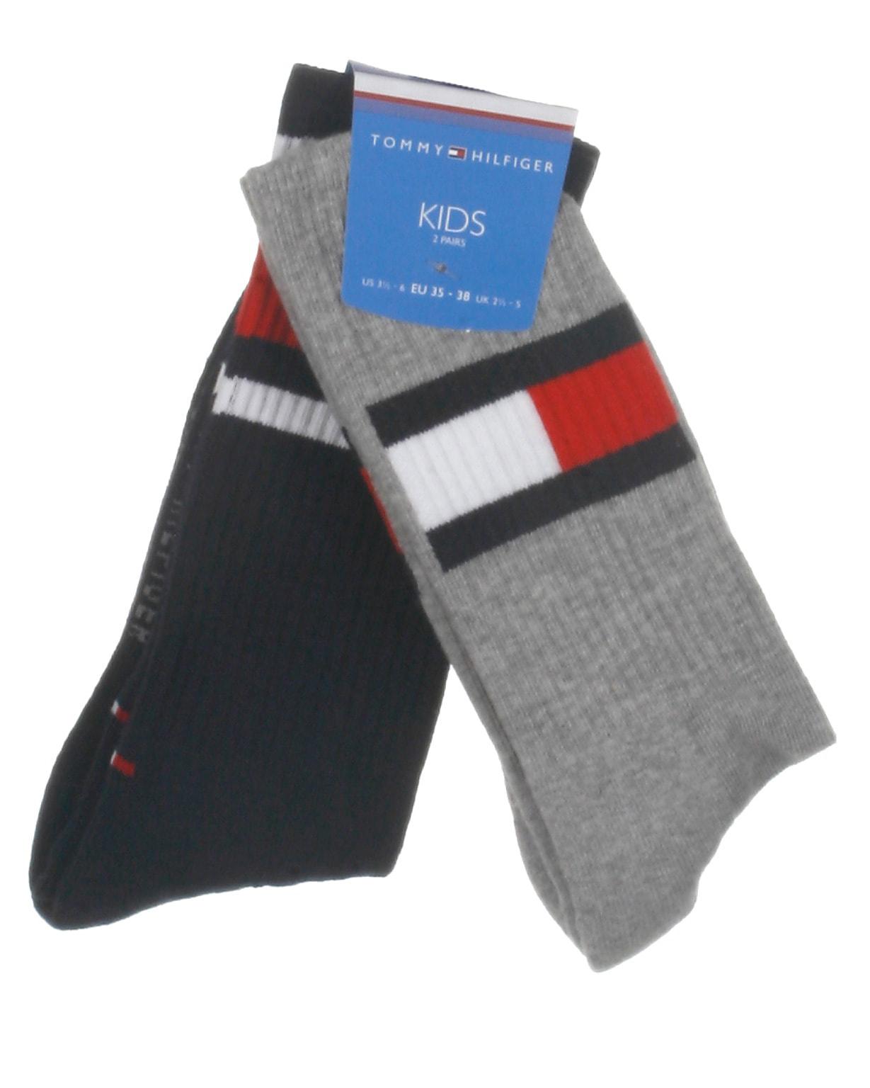 Tommy Hilfiger 2-pak strømper, Flag, grå