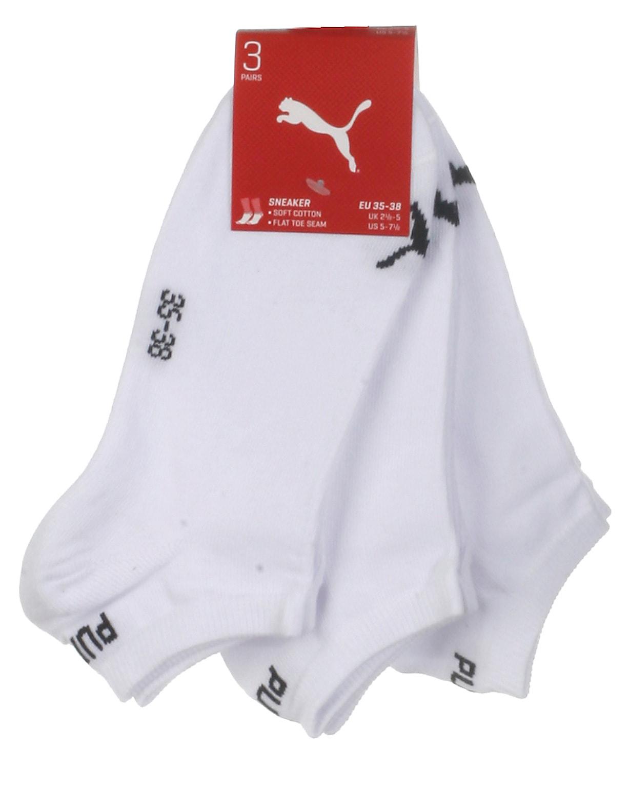 Puma 3-pak sneaker strømper, hvid