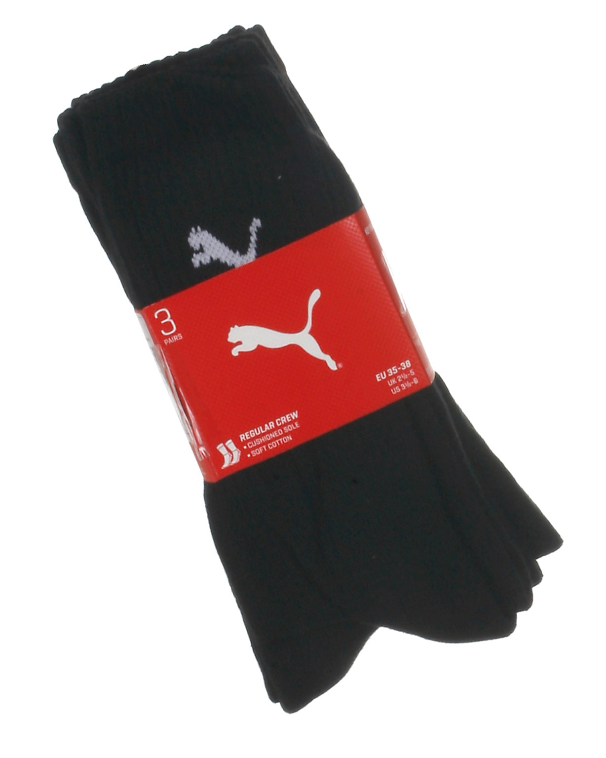 Puma 3-pak sportsstrømper, sort