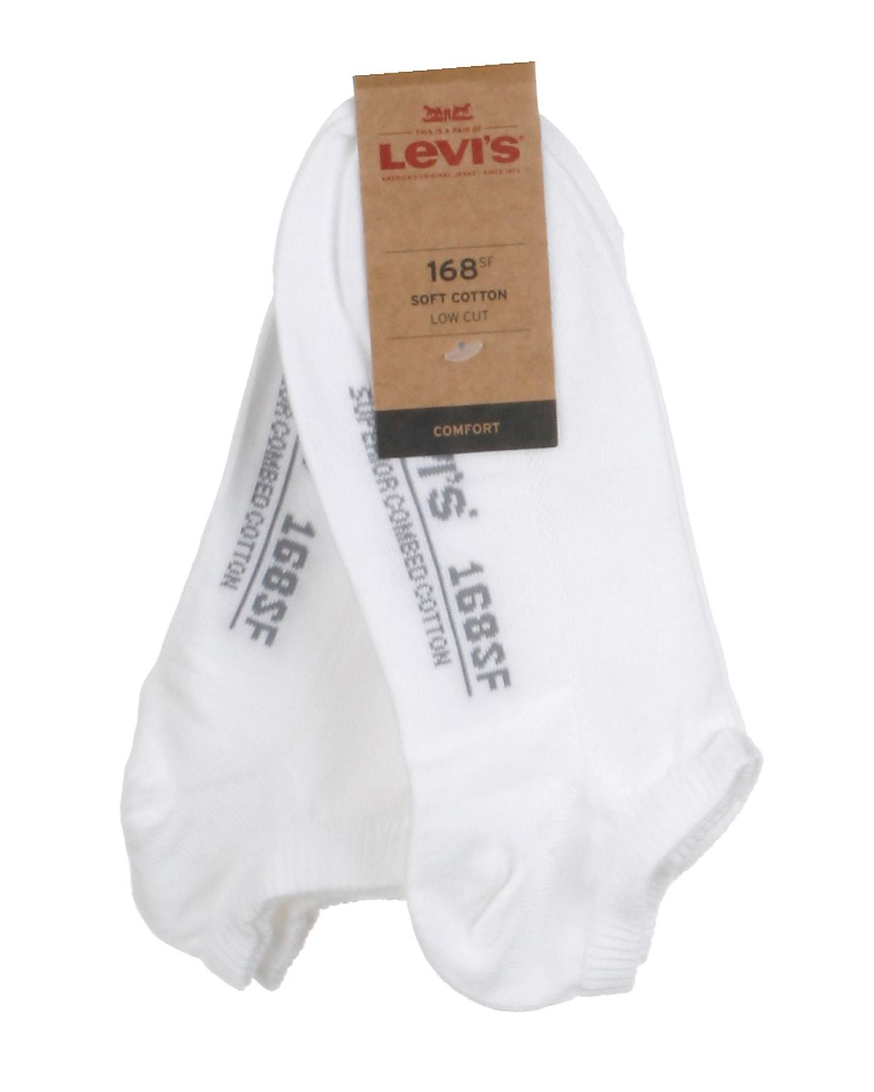 Levis 2-pak footies, hvid