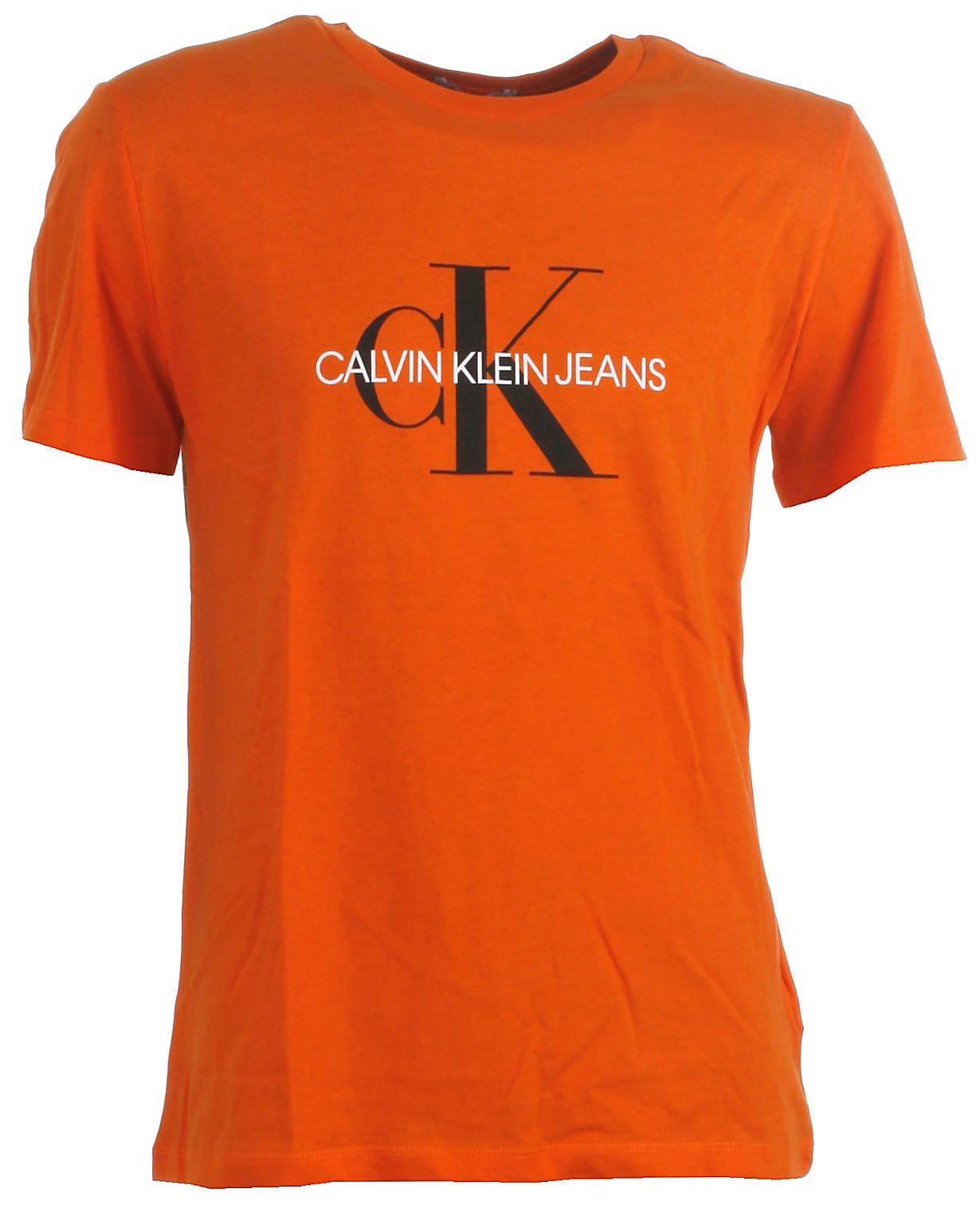 Calvin Klein t shirt ss, Monogram, orange