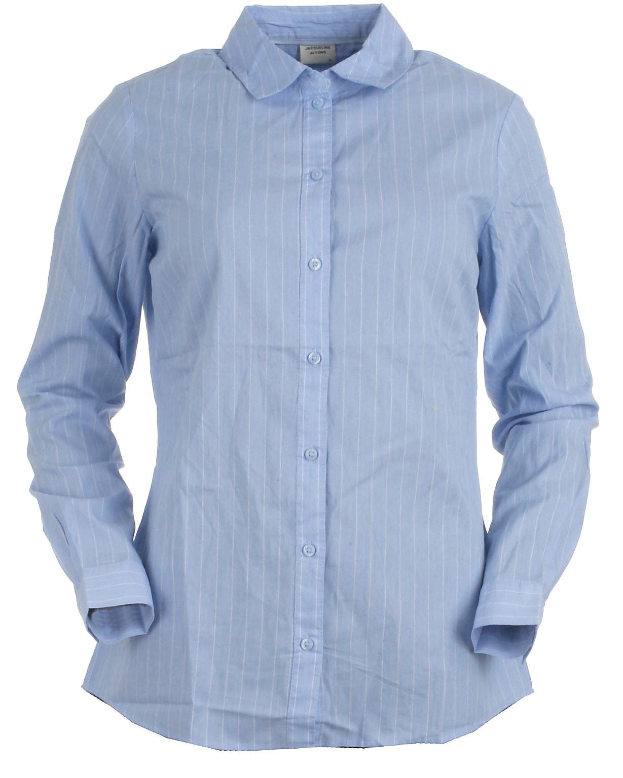 Jacqueline de Yong skjorte l/s, Mio, lyseblå