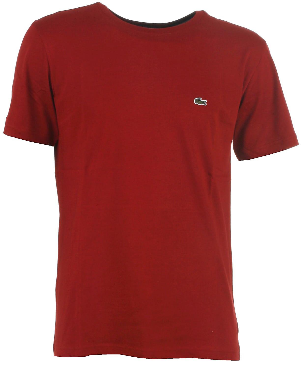 Lacoste t-shirt s/s, vinrød