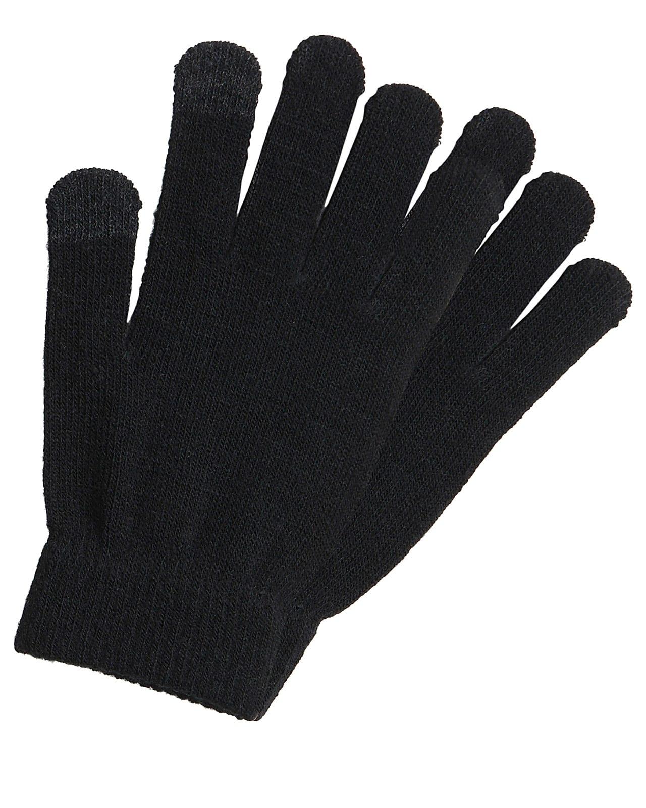 Pieces strik handsker, black