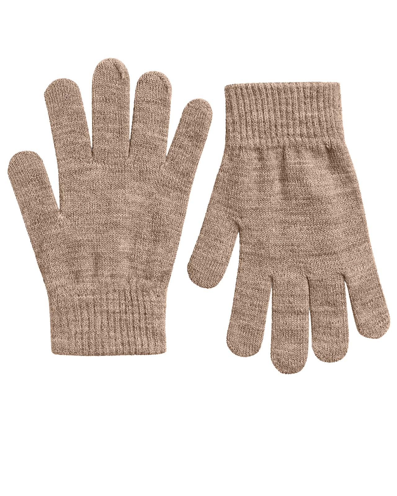 Pieces strik handsker, natural