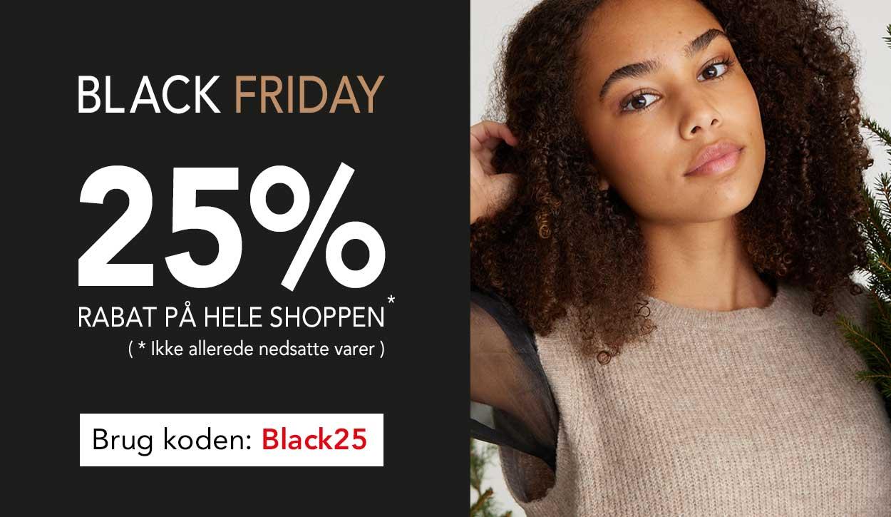 Black Friday hos teenstyle.dk - køb med 25% på hele shoppen til teens piger