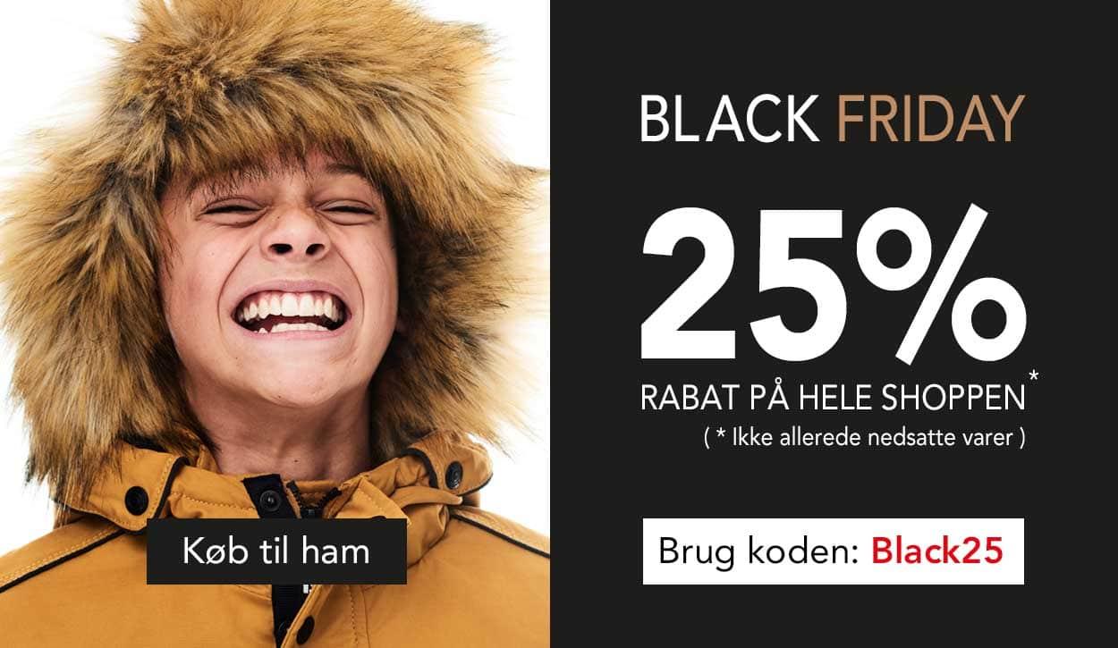 Black Friday hos teenstyle.dk - køb med 25% på hele shoppen til teens drenge