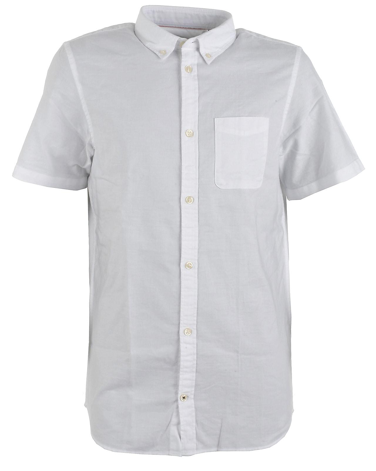 Jack & Jones JR skjorte s/s, Oxford, white