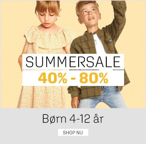 Sommerudsalg børn 4-12 år - spar 40-80% på tøj og sko til børn - umame.dk