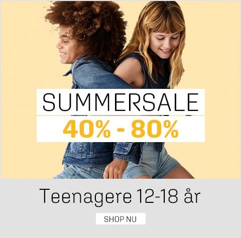 Sommerudsalg teenagere - spar 40-80% på tøj og sko til teenagere - umame.dk