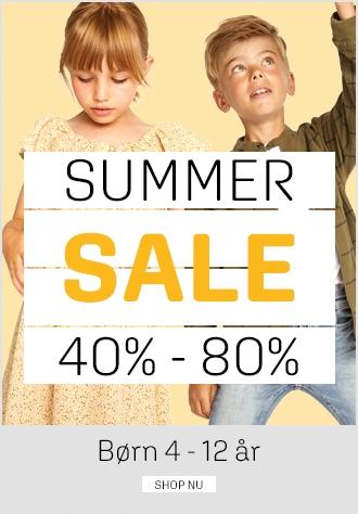 Sommerudsalg spar 40% - 80% på børnetøj hos umame.dk