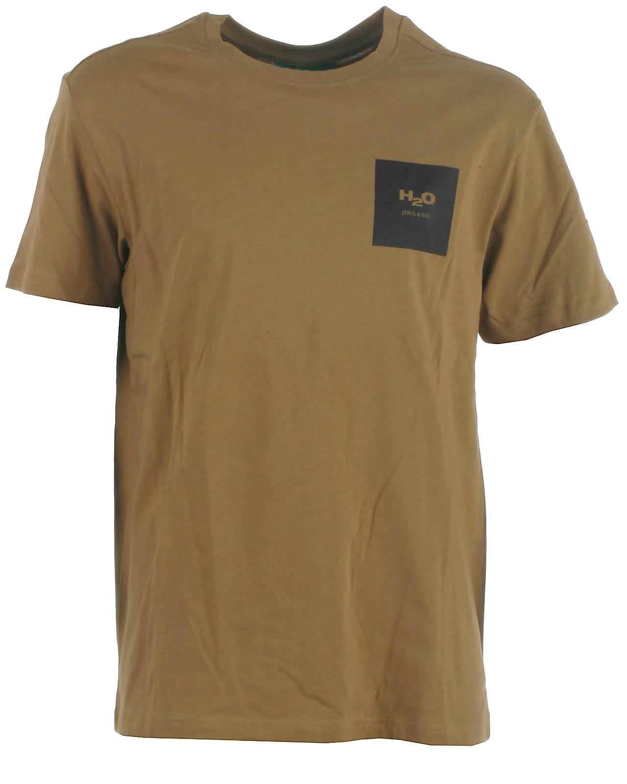 Image of H2O t-shirt s/s, Lyø, khakiblack