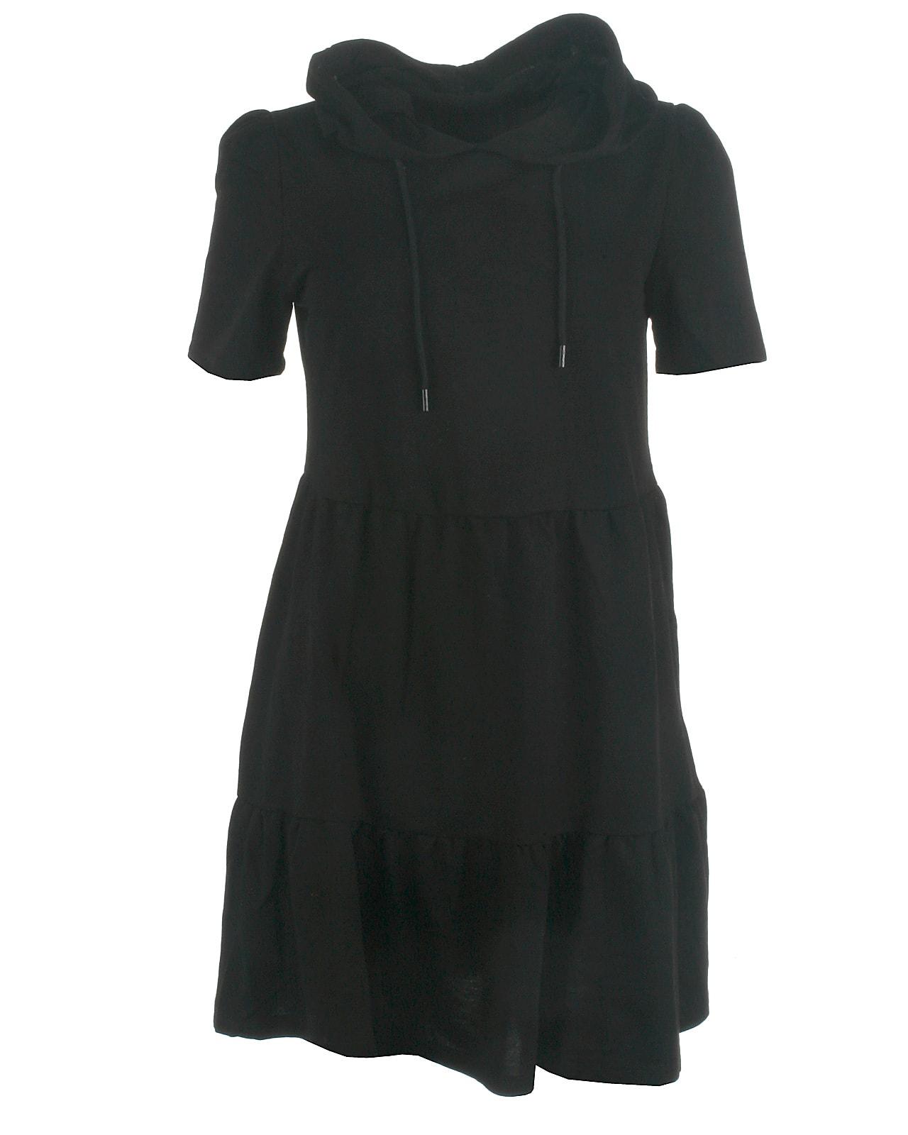 Jacqueline de Yong hood sweat kjole, Mary, black