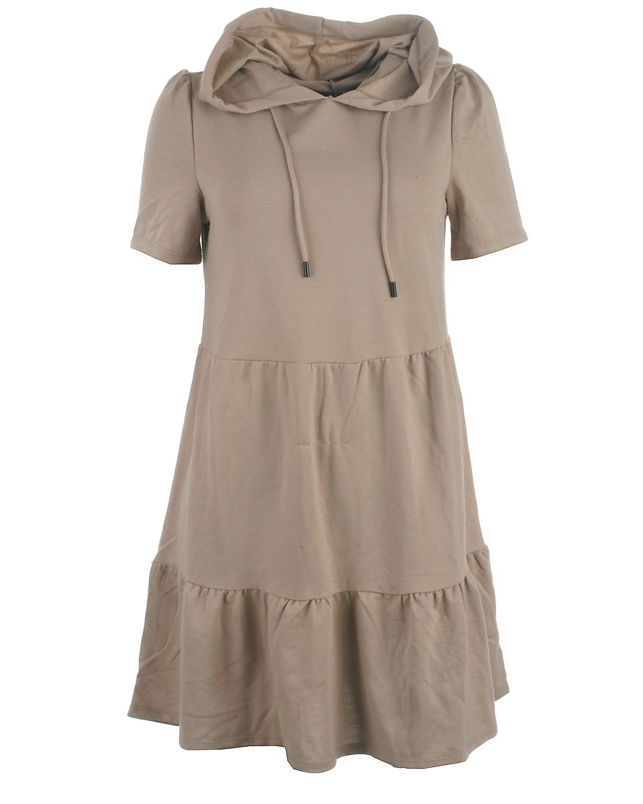 Jacqueline de Yong hood sweat kjole, Mary, simplytaupe
